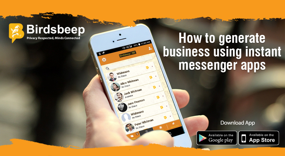 How to Generate Business Using Instant Messenger Apps